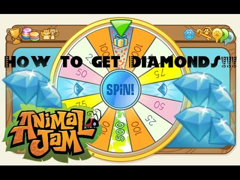 How to get Diamonds on the Daily Spin 2016 | Animal Jam