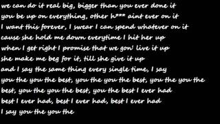 Drake-Best I Ever Had-Lyrics Clean