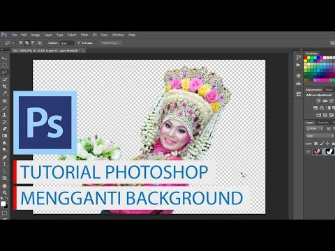 tutorial photoshop mengganti background