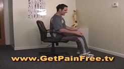Proper Posture Sitting at Computer - Best Lower Right or Left Back Pain Relief Product and Treatment