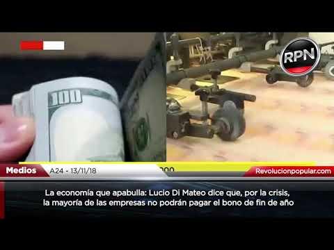 Bono de fin año: Lucio Di Mateo dice que la mayoría de las empresas no podrán pagarlo
