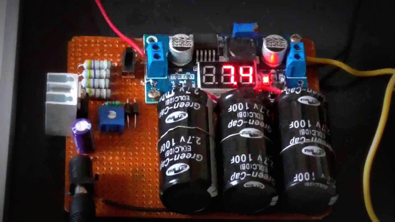 Ultracapacitor balance sheet 6 strings super capacitor plate MaxWell 2.7V 350F