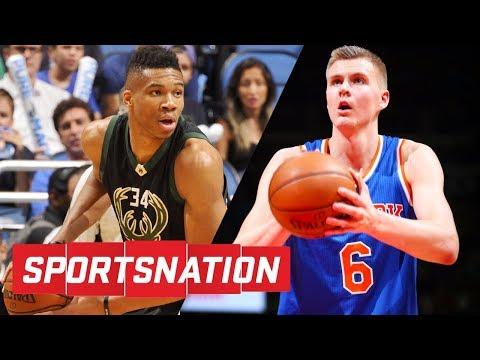 Kristaps Porzingis or Giannis Antetokounmpo: Who's scarier to face? | SportsNation | ESPN