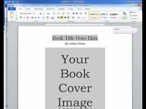 Kindle Ebook Template Youtube