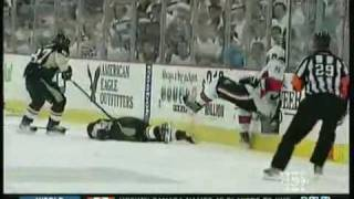 NHL Network: Andy Sutton's hit on Jordan Leopold