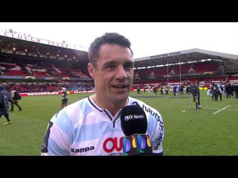 Dan Carter interview after match Leicester Tigers vs Racing 92 2016.04.24