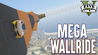 MEGA WALLRIDE über Militärbasis (+Download) | GTA 5 - Custom Map Rennen
