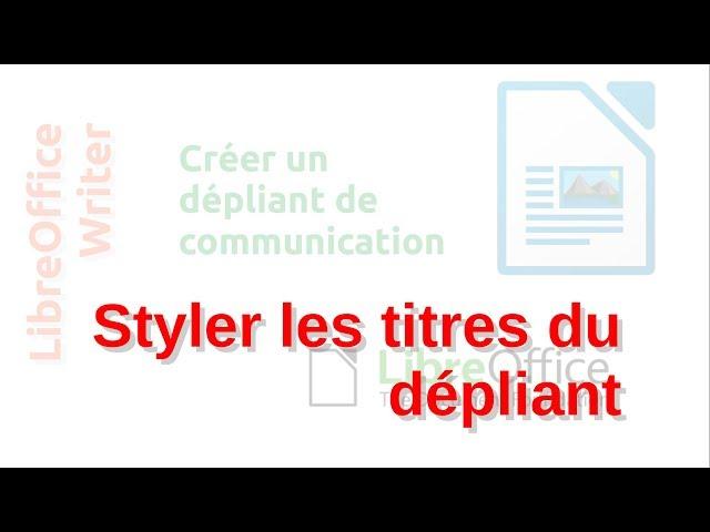 Un dépliant de communication avec LibreOffice Writer #7