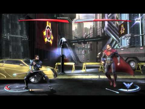 Injustice: Gods Among Us: Superman Vs. Nightwing Gameplay (Xbox 360) - Comic-Con 2012