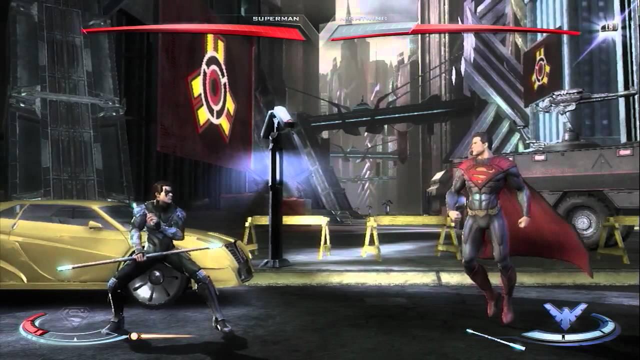 Injustice gods among us superman vs nightwing gameplay xbox 360 injustice gods among us superman vs nightwing gameplay xbox 360 comic con 2012 youtube voltagebd Choice Image
