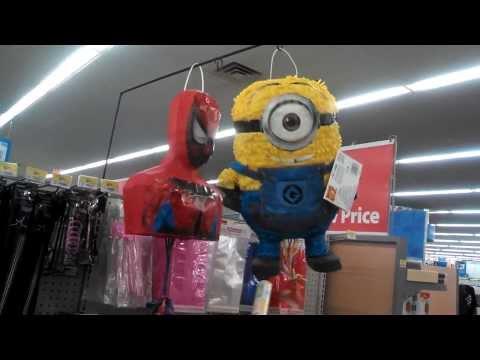 Pinkie Pie, Minions, TMNT & Spongebob Pinatas Get a Spanking from a little girl
