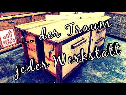 Werkstatt #5 Holz-Werkbank Selber Bauen. Ist Das Der Traum Einer Werkstatt???