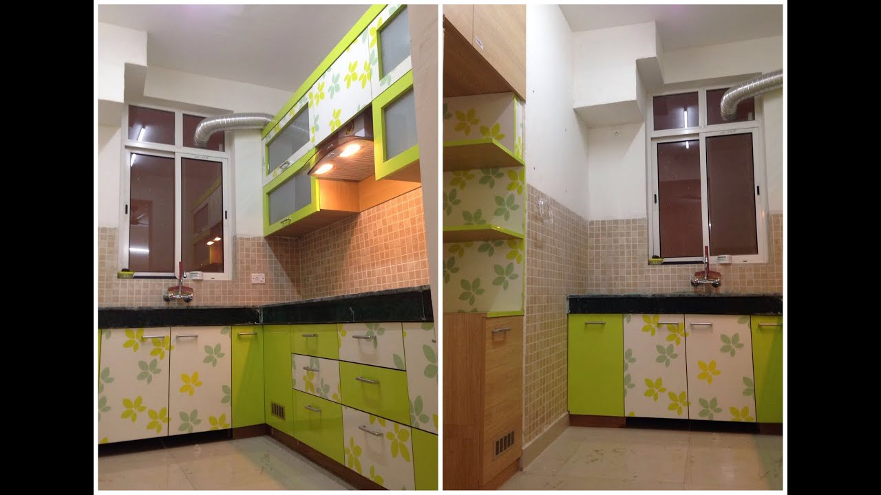 Live Working Indian Modular Kitchen Design Detail Simple With Vibrant Colours Plan N