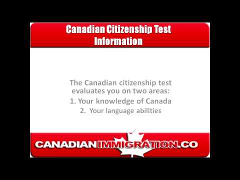 Canadian Citizenship Test Information: Questions and Requirements