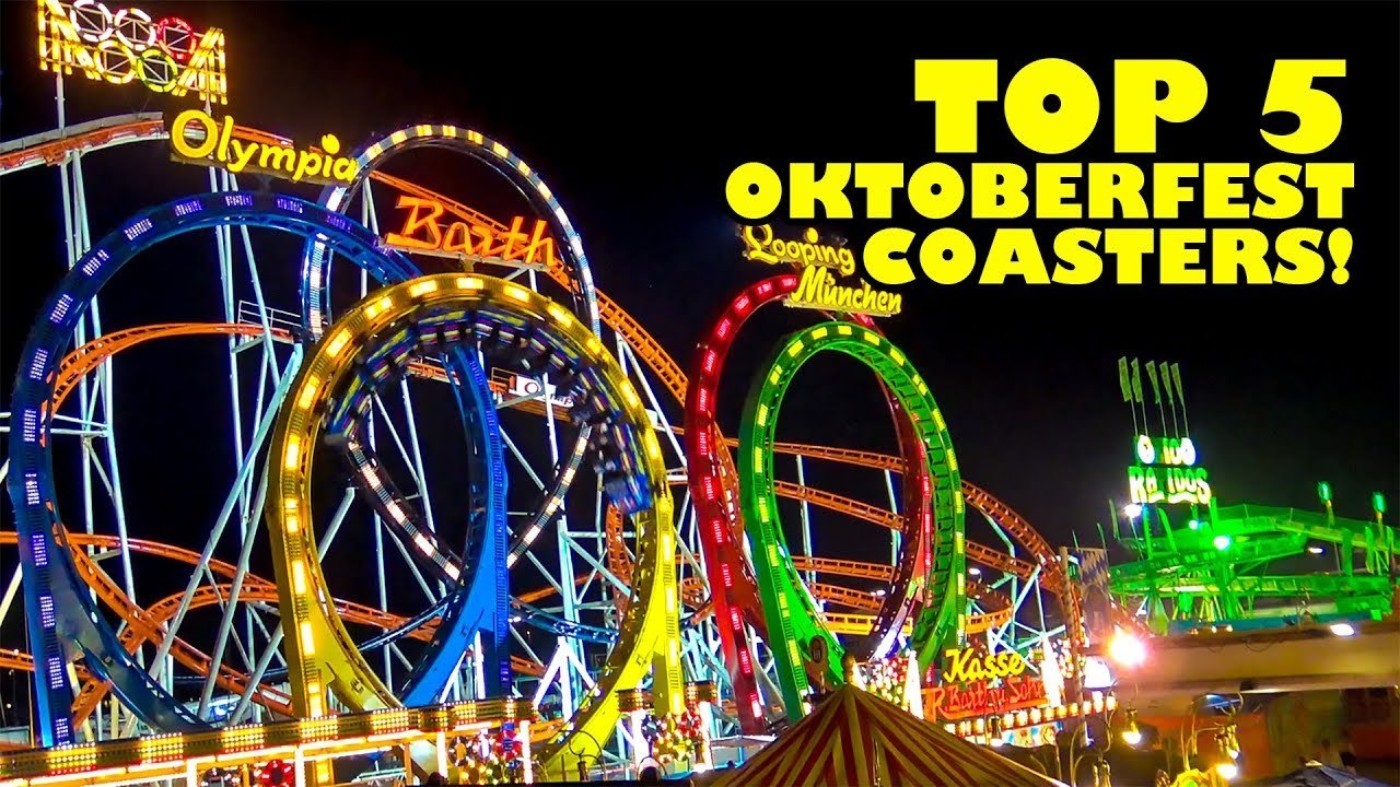 top 5 oktoberfest roller coasters munich germany onride front row pov youtube. Black Bedroom Furniture Sets. Home Design Ideas