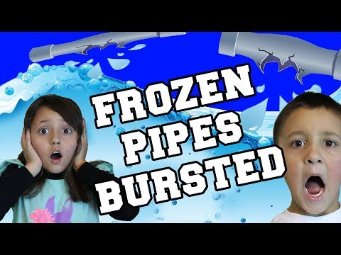 Our House Flooded! Frozen Pipes Bursted @ Zero Degrees!