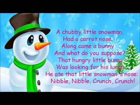 Sweet image with regard to chubby little snowman poem printable