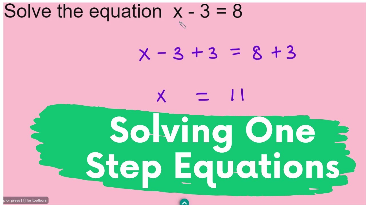 Solving One Step Equations One Step Equations Equations First Step One step equations with addition and