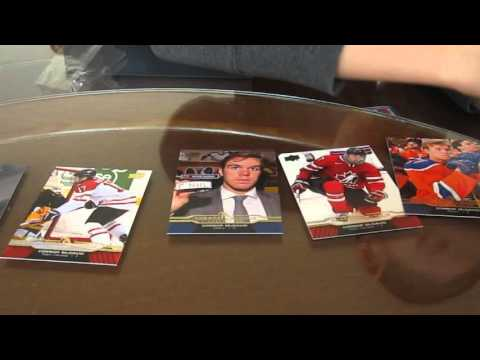 Opening a box of Connor McDavid Hockey Cards