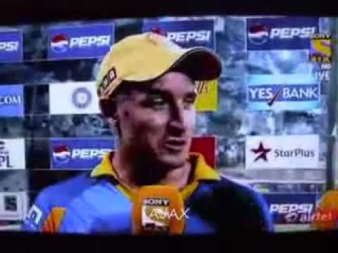 Rochelle Rao The Ever Smiling IPL 6 Anchor interviews Irfan Pathan And Michael Hussey