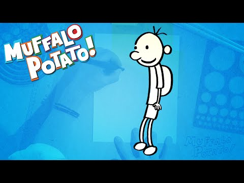 How to Draw DIARY OF A WIMPY KID with Muffalo Potato