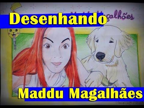 Desenhando Maddu Magalhães em Mangá Desafio de r&39;s SPEED ART
