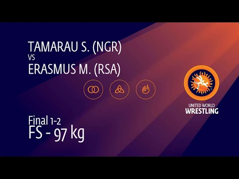 GOLD FS - 97 Kg: S. TAMARAU (NGR) V. M. ERASMUS (RSA)