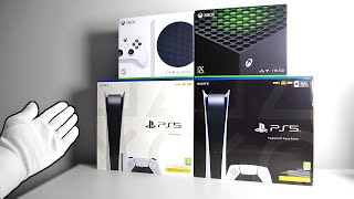 The Ultimate NEXT GEN Consoles Unboxing (PS5, Xbox Series X / S)