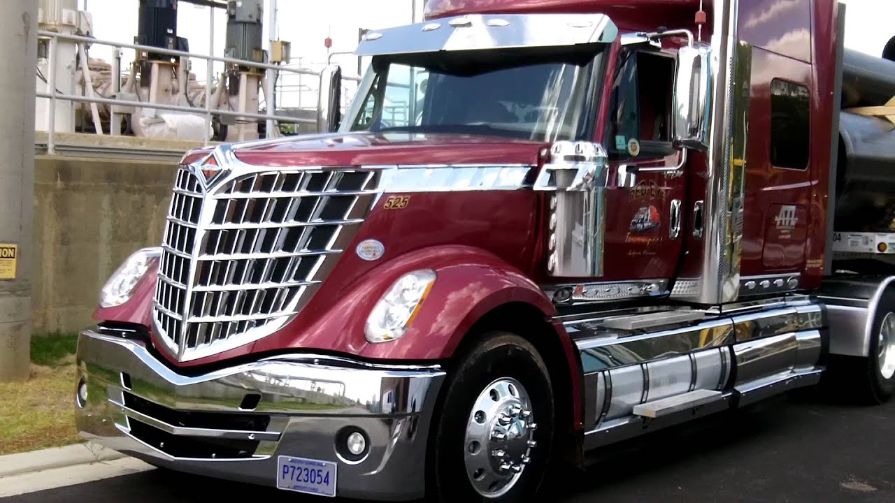 Work Truck For Sale >> International Lone Star truck - Tough looking, chromed out, and bad to the bone! - YouTube