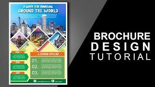Cara Membuat desain brosur wisata dengan Photoshop Travel Brochure Design