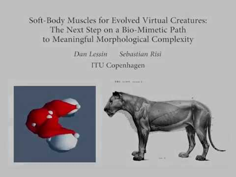 Soft-Body Muscles for Evolved Virtual Creatures