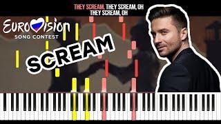 Sergey Lazarev - Scream (Eurovision 2019 - Russia) - На Пианино - Караоке - Ноты