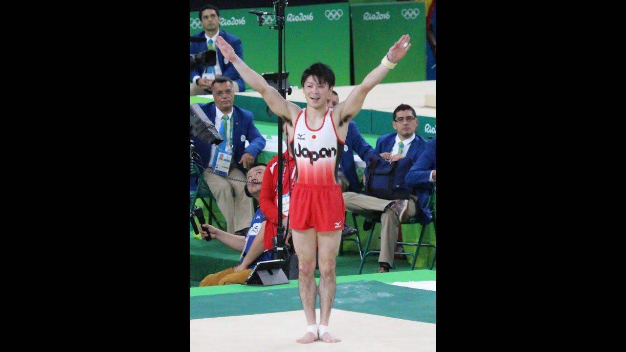リオ五輪 内村航平選手 超絶美しい床の演技 男子体操団体決勝 - YouTube