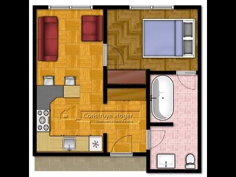 Minicasa 35m2 doovi for Planos departamentos pequenos modernos