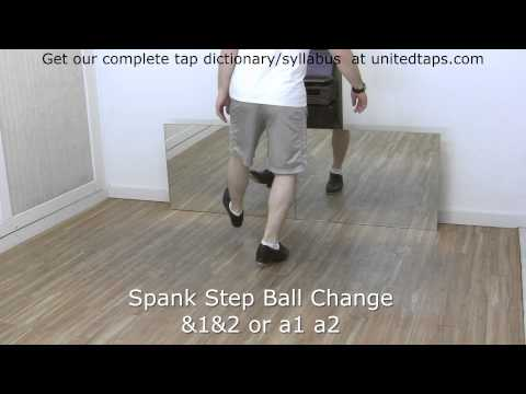 Spank Step Ball Change Tap Dance Move Shown by Rod Howell