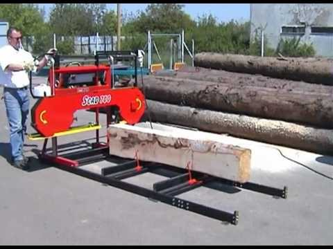 Bandsaw Mill Cutting Hardwood For Shed At Valley Doovi