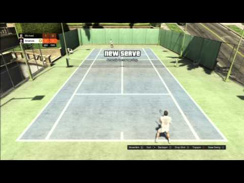 GTA V- singleplayer let's play ep4 - Michael playing tennis