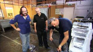 Vodka Luge Sculpting - The Hairy Bikers' Christmas Party - BBC Two