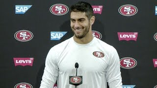 Jimmy Garoppolo Looking Forward to First Start in Front of 49ers Faithful