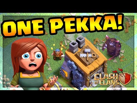 ONE SUPER PEKKA vs. BUILDER HALL! Clash of Clans | CoC |