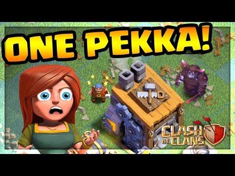 ONE SUPER PEKKA vs. BUILDER HALL! Clash of Clans   CoC  