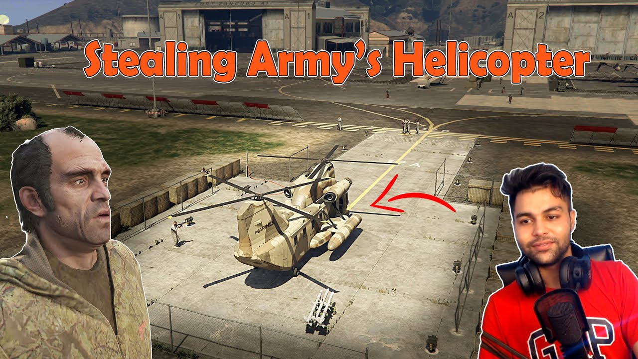 Trevor Stole An Army Helicopter | GTA V #14