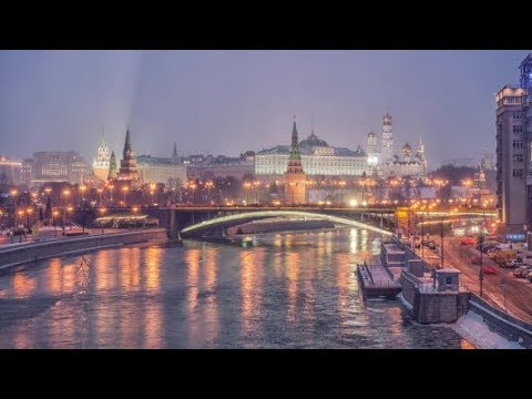 Russia, Moscow, Night View of the Moskva River, Bridge and the Kremlin | Stock Footage - Videohive