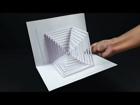 Kirigami Paper Art Pop Up Easy - Tutorial