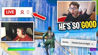 Reacting to Fortnite Streamers with ZERO VIEWERS... (he's BETTER THAN FAZE SWAY)