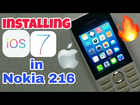 Downloading and installing iOS in Nokia 216 in Hindi.