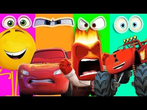 Thumbnail: Wrong Eyes Inside Out The Emoji Blaze Monster Machines Disney Cars 3 Mcqueen Learn Colors song kids