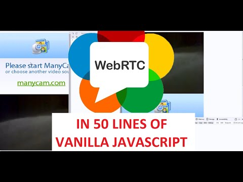 WebRTC  - P2P Video Chat In 50 Lines Of Vanilla Javascript (No 3rd Party Libraries)