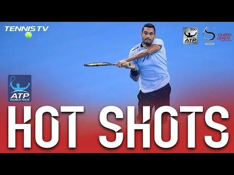 Kyrgios Crashes The Net For Beijing 2017 Hot Shot