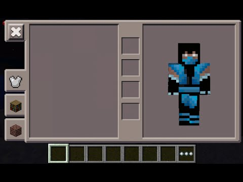 minecraft pe subzero skin costume youtube